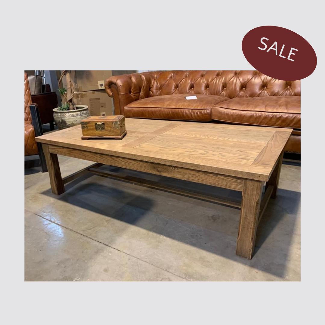שולחן סלון מעץ אלון